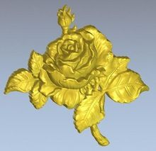 3d model relief for cnc in STL file format Rose_1(China (Mainland))
