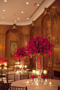 beautiful red centerpieces