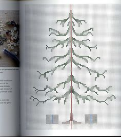 Christmas Tree Chart - This would be so pretty if you add ornaments after stitching the tree,