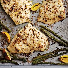 Baked Flounder with Fresh Lemon Pepper | MyRecipes.com - go lighter on the pepper, especially if you don't have as much fish as the recipe calls for