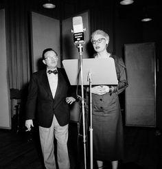 Composer Jule Styne and Carol Channing in a recording session for Gentlemen Prefer Blondes - 1949 Original Broadway Cast | The Official Masterworks Broadway Site