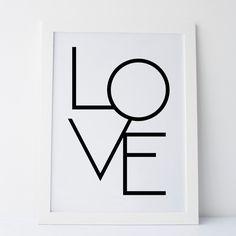 Printable Art Love Typography Prints Gallery door elemenopeedesign