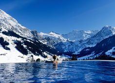 Infinity pool at the Cambrian Hotel, Switzerland