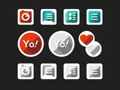long shadow buttons by Derek Fidler Svg Shapes, Long Shadow, Buttons, Icons, Symbols, Ikon, Plugs
