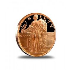 Walking Liberty Style Flight Tracker Two X One Ounce .999 Fine Copper Rounds