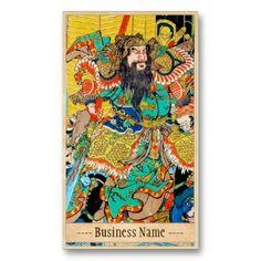 Classic japanese legendary samurai warrior art business cards #japanese #warrior #samurai #naginata #Japan #hero #businesscards #business #card #profile #template #office #vintage #retro #oriental #classic #legens