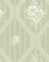Tapet Blåklint Grön/Vit från Lim & Handtryck Lim, Embroidery Patterns, Tapestry, Display, Tyger, Rugs, Architecture, Wallpaper, Upstairs Hallway