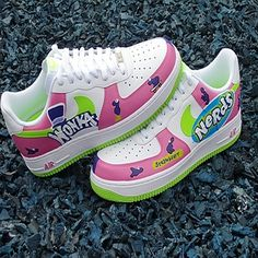 Pimp My Kicks PMK Willy Wonka Nerds Custom Air Force Ones