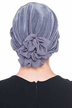 Plissée et perlée Détail Chapellerie pour la perte de cheveux (Beige)