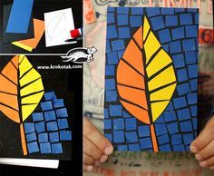 DIY Stained Glass with Construction Paper Autumn Crafts, Fall Crafts For Kids, Autumn Art, Art For Kids, School Age Crafts, Origami, October Crafts, Drawing Lessons For Kids, Ecole Art
