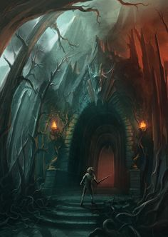 Fire Cave Entrance - Concept. by *ANTIFAN-REAL on deviantART