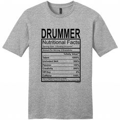 910706c1b 19 Best Drummer t shirts images | Music, Drum kit, Drummers