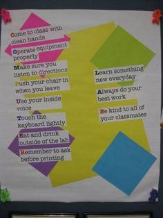 Art Computer Lab Reminders school-stuff