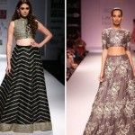 How to : Wear a crop top bridal lehenga / sari for every body type