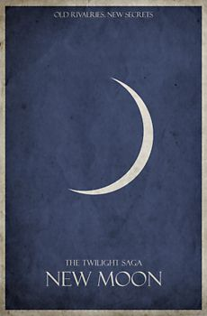 These trendy minimalist movie posters are popping up everywhere. This Twilight: New Moon poster design has a gritty, grungy, vintage feel. Twilight Forever! This fun poster design looks great on T-shirts, hoodies and other merchandise too!