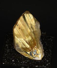 Rutilated Quartz with Hematite
