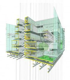 Project: Park Tower Architect: LTL Architects Location: New York Site: Position Revit Architecture, Architecture Drawings, Ltl Architects, Sectional Perspective, Rendering Drawing, New York Sites, Architectural Section, Perspective Drawing, Venice Biennale