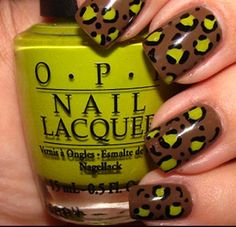 Nail art + leopard = what's NOT to love?
