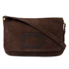bf05b81af7ed Labellov Delvaux Dark Brown Nubuck Leather Crossbody Bag ○ Buy and Sell  Authentic Luxury