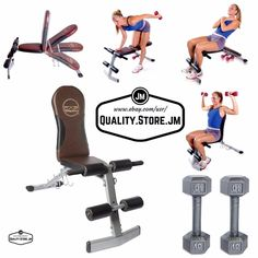 Adjustable Weight Benches Bench Strength Fitness Workout Gym Home Dumbbell Set #CapBarbell