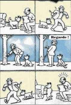 Tel maître, tel chien, est une image drôle publiée le 9 Avril 2014 par CARTAPUCE. Que pensez-vous de cette image drole insolite ?