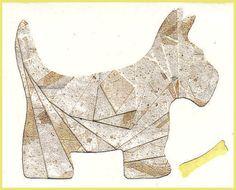 Iris Folding pattern. Click Here to Print the Scottie Dog Free Pattern: http://www.circleofcrafters.com/irisfolding/scottiedogpattern.html