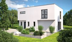 Prefab House - Hanlo - Hommage 165 Style At Home, Bauhaus, Prefab Homes, Garage Doors, Sweet Home, Modern, Mansions, House Styles, Outdoor Decor