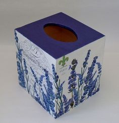 Hecho por encargo hecho a mano Decoupage madera tejido caja