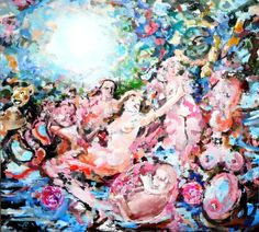 Painting Modern Art, Oil on Canvas, 180 x 200 cm Art Oil, Oil On Canvas, Modern Art, Painting, Idea Paint, Art Production, Painting Art, Paintings, Contemporary Art