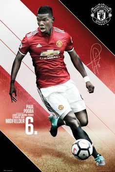 Decorate your wall with your favorite player.&ltBR>&ltBR&gtThe French international returned to Manchester United in 2016 after winning four Serie A titles with Juve. Manchester United Poster, Manchester United Football, Pogba Manchester, Paul Pogba, Soccer Pro, Football Players, Soccer Shoes, Football Fight, Frames
