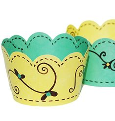 Confetti Couture Party Supplies 36 Dessert Skirtz Reversible Cupcake Wrappers for Bakery Packaging and Decoration, Vintage Linens Yellow Black Aqua Blue Confetti Couture Party Supplies http://www.amazon.com/dp/B015HQEJVM/ref=cm_sw_r_pi_dp_mNhZwb0SZEMK6 #easter #party #supplies