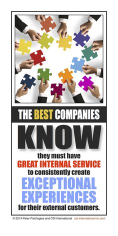 Each and every one of the greatest companies in the world share one common trait: They all have great internal service cooperation! http://csi-international-inc.com/the-best-companies-know-this-secret/ #employees
