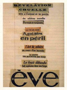 Andre Breton, Three Collage Poems, (1920's)