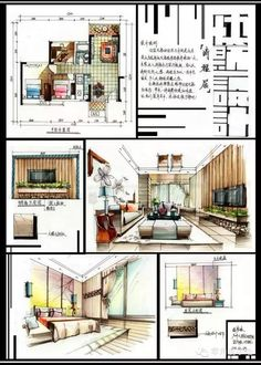 Architectural Layout Presentation - Welcome my homepage Interior Design Renderings, Interior Rendering, Interior Sketch, Architecture Life, Architecture Concept Drawings, Interior Architecture, Classical Architecture, Interior Design Presentation, Architecture Presentation Board