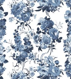 CHINA BLUE Amrapali Fabric by Designers Guild | Jane Clayton