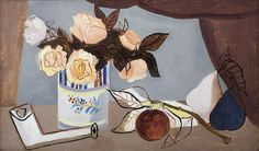 Christopher Wood (1901 – 1930) Still life with Flowers, Fruit and Clay Pipe, c.1927