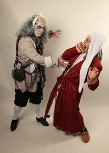 Amazing make-up for Jacob Marley...  EDMT sings Dickens' 'A Christmas Carol' | Village Life