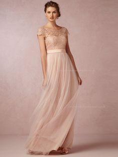 Shop Elegant A-line Bateau Pearl Pink Cap Sleeve Bridesmaid Dresses for  £89.9 with Free Shipping 6669aa447a27