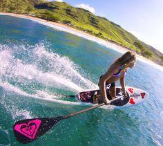 SUP surfer girl Vanina Walsh