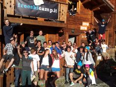 Campers ready to get started at freeskicamp