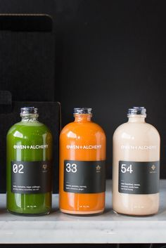 Juices at Owen + Alchemy. [Photo Courtesy of Potluck Creative]