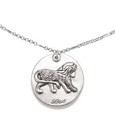 Young /& Forever Girls Zodiaco Stainless Steel Dog Tag Pendant Necklace 22 Chain Capricon