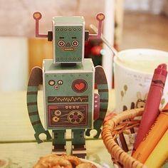 Message Robot - Sea Green