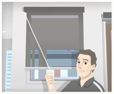 This graphic was taken from a video we did at my house explaining how to fix a broken roller blind chain...