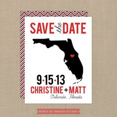 Wedding Save the Date (State of the Union) - Digital Files or Deposit on Printing (Customizable State Design) Wedding Vows, Our Wedding, Wedding Ideas, State Of The Union, Wedding Save The Dates, Youre Invited, Where The Heart Is, Here Comes The Bride, Wedding Details