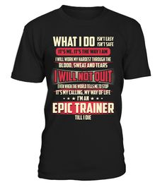 Epic Trainer - What I Do