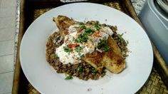 Roomyskitchen: ROASTED CURRIED COD WITH SPICY LENTILS AND SERVED ...