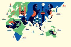 GCT  Set of 6 illustrations commissioned for the 2012 issue of the Global Champion Tour.  Art direction by MeriMedia