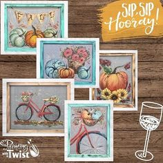 Rebeca Flott Arts classes are now available through Painting with a Twist stores in all over United States. Wine Painting, Painting On Wood, Painted Window Screens, Dandelion Pictures, Paint And Sip, T Art, Autumn Art, Paint Party, Autumn Inspiration