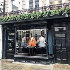 Mr Porter is opening the world's first Kingsman shop in London to showcase a luxury menswear collection it created in partnership with the upcoming comedy movie, Kingsman: The Golden Circle, starring Colin Firth. Opening on 8 September Kingsman Store, Kingsman Suits, Luxury Store, Tailor Shop, Retail Interior, Mr Porter, English Countryside, Filming Locations, Store Design